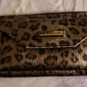Tahari Leopard print wallet